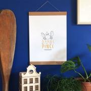 porte-affiche en bois